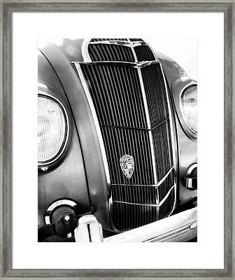 Classic Car Grill 1935 Desoto - Photography Framed Print by Ann Powell