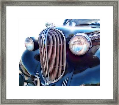 Classic Car Grill 1938 Plymouth Framed Print by Ann Powell