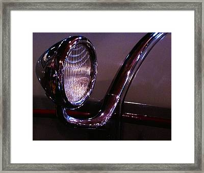Classic Car Head Light Framed Print