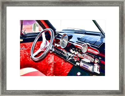 Classic Car Interior 10 Framed Print
