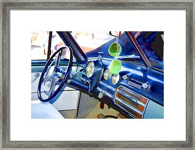 Classic Car Interior 11 Framed Print