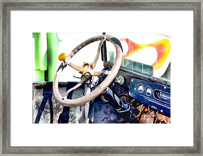 Classic Car Interior 12 Framed Print