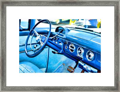 Classic Car Interior 13 Framed Print