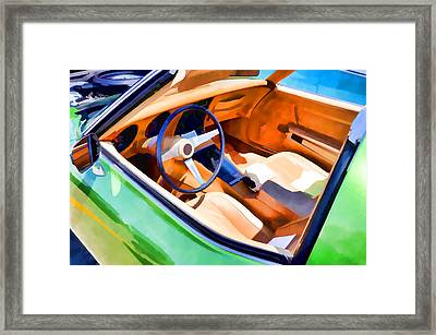 Classic Car Interior 2 Framed Print