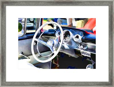 Classic Car Interior 3 Framed Print