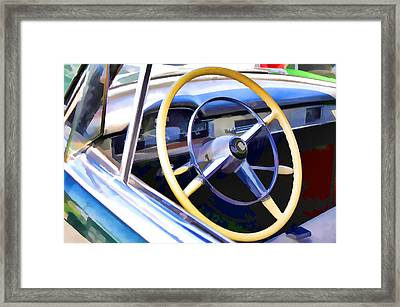 Classic Car Interior 4 Framed Print