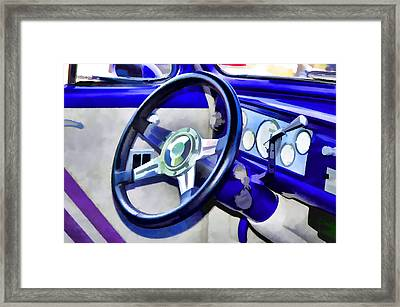 Classic Car Interior 5 Framed Print