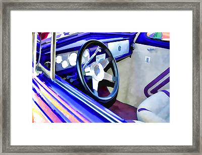 Classic Car Interior 6 Framed Print