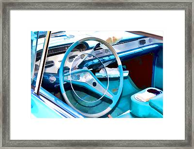 Classic Car Interior 7 Framed Print