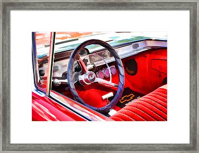 Classic Car Interior 8 Framed Print