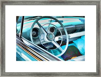 Classic Car Interior 9 Framed Print