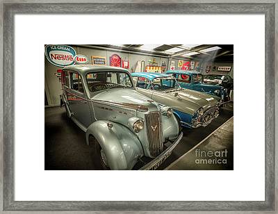 Framed Print featuring the photograph Classic Car Memorabilia by Adrian Evans