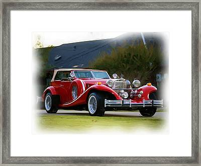 Classic Car Framed Print by Nona Willivan