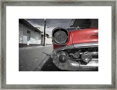 Classic Car - Trinidad - Cuba Framed Print
