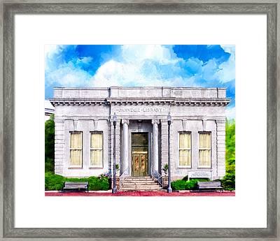 Classic Carnegie Library - Montezuma Georgia Framed Print by Mark Tisdale