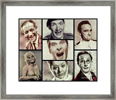 Classic Carry On Comedy Framed Print by Esoterica Art Agency