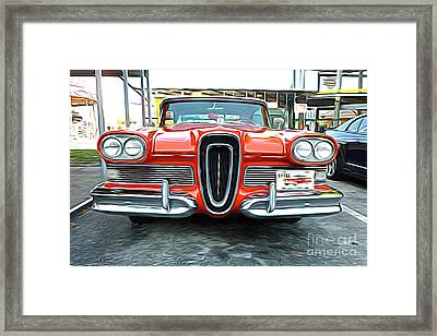 Classic Cars - 1958 Ford Edsel Front End Framed Print by Jason Freedman