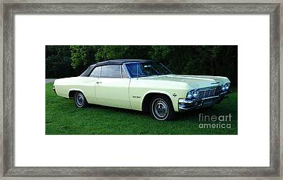 Classic Cars 1965 Chevrolet Impala Super Sport Convertible Framed Print by Bob Christopher