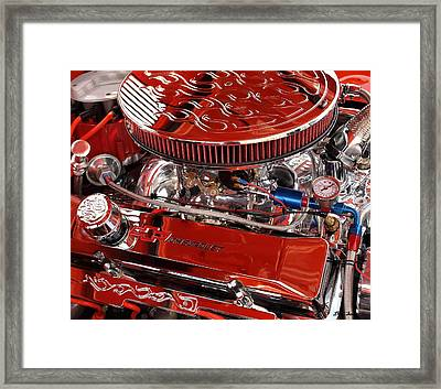 Classic Chevrolet Engine Framed Print by Dennis Stein
