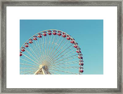 Framed Print featuring the photograph Classic Chicago Ferris Wheel by Melanie Alexandra Price