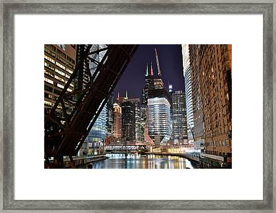 Classic Chicago View Framed Print by Frozen in Time Fine Art Photography