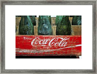 Classic Coke Framed Print by David Lee Thompson