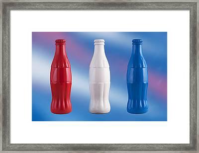 Classic Coke Framed Print