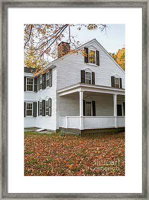 Classic Colonial Home Framed Print by Edward Fielding