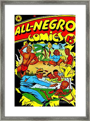 Classic Comic Book Cover All Negro Comics Framed Print by Wingsdomain Art and Photography