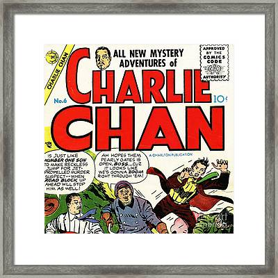 Classic Comic Book Cover Charlie Chan 6 Square Framed Print by Wingsdomain Art and Photography
