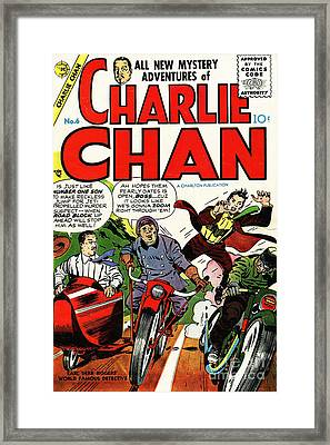 Classic Comic Book Cover Charlie Chan 6 Framed Print by Wingsdomain Art and Photography