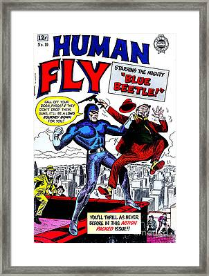 Classic Comic Book Cover - Human Fly - 0118 Framed Print by Wingsdomain Art and Photography