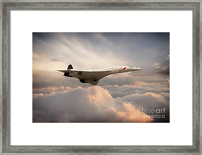 Classic Concorde Framed Print by J Biggadike