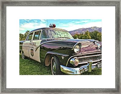 Classic Cop Car Framed Print