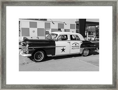 Classic Cop Car Route 66 Framed Print by John McGraw