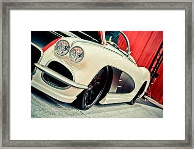 Classic Corvette Framed Print by Merrick Imagery