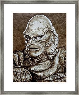 Classic Creature From The Black Lagoon Framed Print by Al  Molina