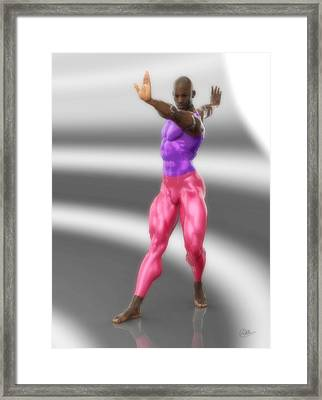 Classic Dancer In Meshes Framed Print