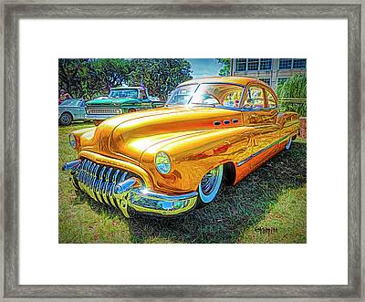 Classic Fifties Buick - Cruising The Coast Framed Print