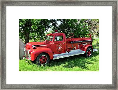 Classic Fire Truck Framed Print by Betty LaRue