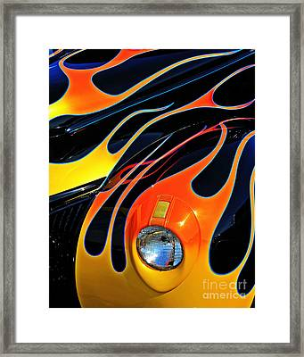 Classic Flames Framed Print by Perry Webster