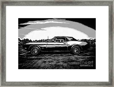 Classic Ford Mustang Framed Print by Edward Fielding