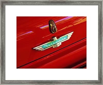 Classic Ford Thunderbird Emblem Framed Print