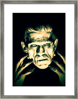Classic Frankenstein Framed Print by Fred Larucci