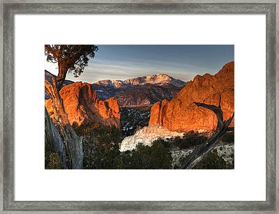 Classic Garden Of The Gods Framed Print by Mike Berenson
