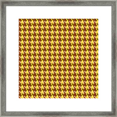 Classic Gold Houndstooth Check Framed Print