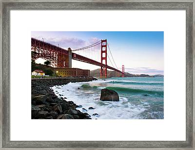 Classic Golden Gate Bridge Framed Print by Photo by Alex Zyuzikov