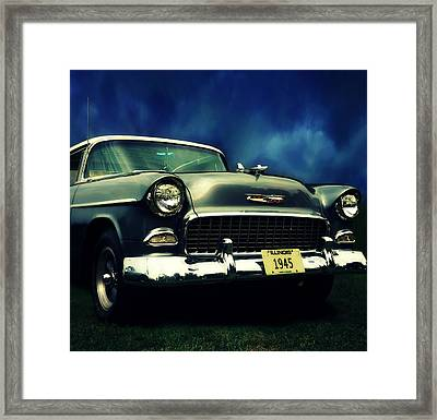 Classic Green Chevy Framed Print by Prairie Pics Photography