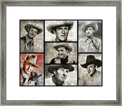 Classic Hollywood Cowboys Framed Print by Esoterica Art Agency