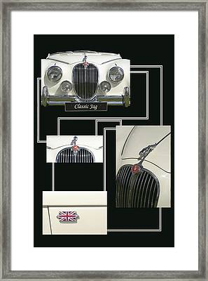 Classic Jag Framed Print by Hazy Apple
